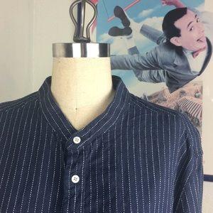 Goodfellow & Co. Blue White Pin Striped Shirt